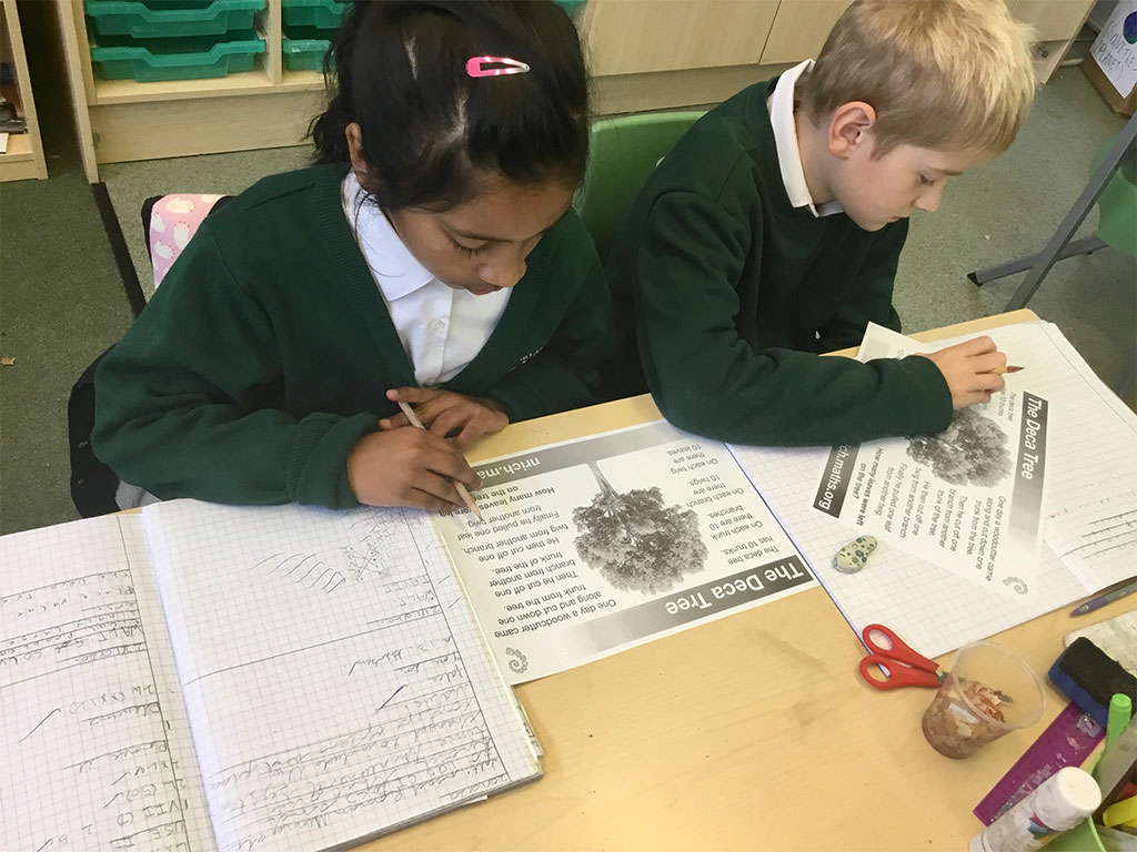 Working in the classroom